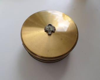Vintage Jewellry Box , Brass , Margaret Rose England
