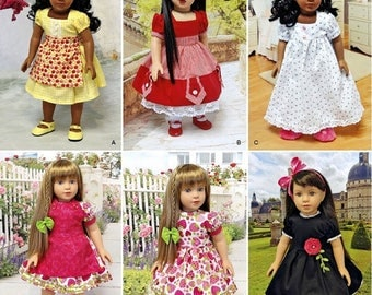 Simplicity 1486- Sewing pattern for 18 Inch Doll Clothes- Fits American Girl Dolls-