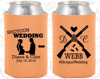 Shotgun Wedding Favors, Fun Wedding Gifts, Country Wedding Favors, Southern Wedding Favors, Redneck Wedding Favors, Can Cooler (562)