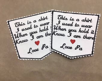 Pocket Memory Patches - SET OF 2, Sew On/Iron On, 4 inch, 15 Patch Colors, Custom Memory Patches, Zig Zag or Straight Edge, Pocket Patches