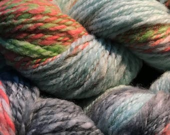 Wool Buffet- Natural Australian Wool Hand spun and Dyed. 8-10 ply  DK-Worsted