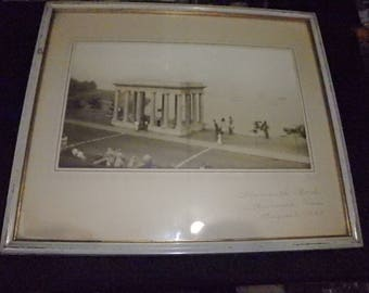 vintage 1939 PHOTOGRAPH PLYMOUTH ROCK Mass framed