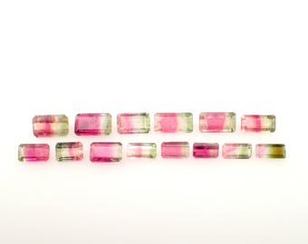 Take 20% OFF - 14 Tourmaline gemstones from Brazil - 20.75ct / 6.7-10.2mm (F54008)