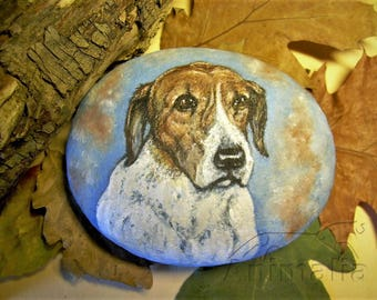 MADE TO ORDER: custom dog portrait, rock painting, pets, dogs art, custom pet portraits, dog lovers, dog memorial, animals, Christmas gift
