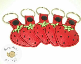 Adorable Strawberry Snap Tab Key Chain **Buy 3 Get 1 Free!!**