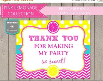 SALE INSTANT DOWNLOAD Printable 8x10 Thank You for Making My Party So Sweet Sign / Diy Printables / Pink Lemonade Collection / Item #425