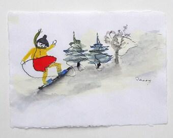 Snowboarding-Original Painting