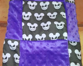"Tim Burton's the Nightmare before christmas- jack skellington baby blanket! 36""w X 50"""