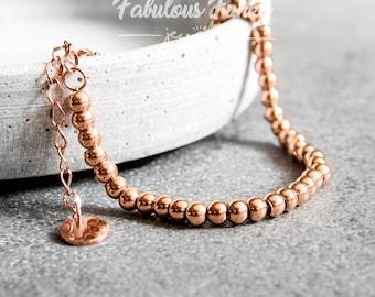 Rose gold bracelet-Beads
