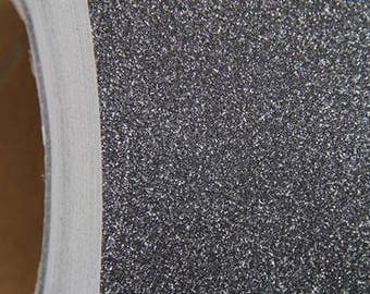 "Glitter Black Self Adhesive Sign Vinyl Film 12"" wide - By The Yard"