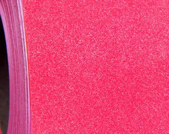 "Glitter Neon Pink 20"" Heat Transfer Vinyl Film By The Yard"