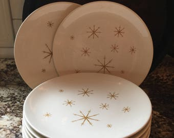 sale vintage starglow by royal china dinner plates set of eight mid century china - China Dinner Plates
