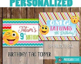 Emoji Treat Bag Topper, EMOJI, Birthday Printable, Thank you Tag, Emoji Birthday, Emoji Party Favor, Tag, PDF, Treat Bag, Bag Topper, Print