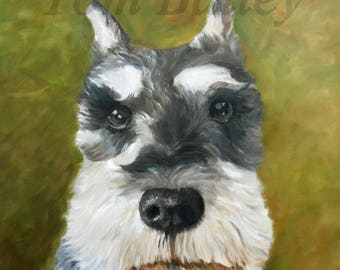 Custom pet portrait. This is a 16x20 oil painting on canvas.