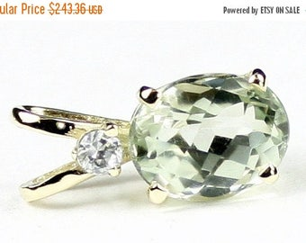 On Sale, 30% Off, Green Amethyst (Prasiolite), 14KY Gold Pendant, P020