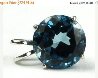 On Sale, 30% Off, London Blue Topaz, 925 Sterling Silver Pendant, SP088