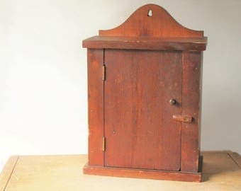 Vintage Medicine Cabinet   Small Jelly Cupboard   Wall Hanging   Primitive    Medicine Chest