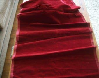 Antique Silk cotton Velvet Dark Red French Millinery,  Dolls Victorian