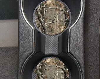 Camo Car Coasters/Custom Car Coasters/Sandstone Car Coaster/Monogram Car Accessories/Monogram Car Coasters/Personalized Coasters