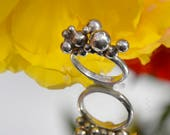 Sterling silver bubbly ball ring