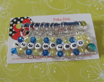 Row Counter Stitch Markers- Removable Numbered Stitch Markers for Knitting - Gift- Supplies- Tools