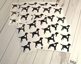 Labrador Retriever Planner Stickers, 63, Labrador Stickers, Retriever Stickers, Labrador Envelope Seals, Labrador Dog Stickers, Labrador