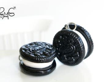 Cream and Cookies - Polymer Clay Jewelry Food Charm