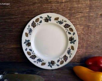 Vintage Ironstone Ware by Myott England 'Springwood' Pattern Side/Cake/Bread Plate Retro English Ironstone Tableware Vintage Tea Time Party
