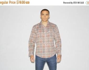 Closing SALE - 1970s Pierre Cardin PaisleyShirt - 70s Designer Shirt - Vintage Button Up Shirts - MT0081