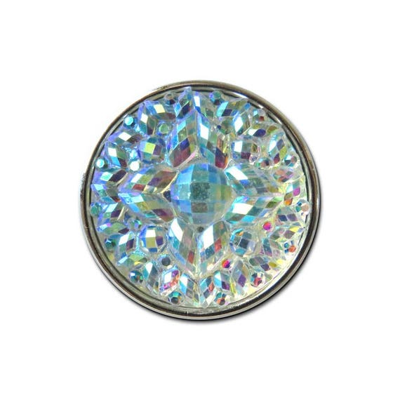 Rainbow Faceted Snap Charm fits 18-20mm Ginger Snaps Noosa