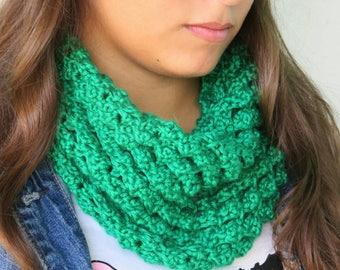 Chunky Crochet Green Cowl