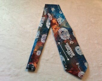necktie or clip on tie made from Guardians of the Galaxy volume 2 cotton fabric, star lord
