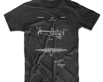 "Tri-Motor Airplane ""The Tin Goose"" Patent T Shirt, Henry Ford, Aviation Shirt, Airplane T Shirt, Plane Shirt, Airplane, PP0849"