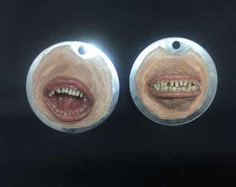 OOAK Silicone mouths. To hang
