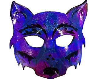 Galaxy Fox Leather Mask