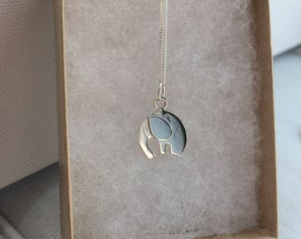Little Elephant Pendant - Sterling Silver - Handmade