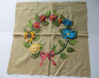Hand Appliqued Quilt Square-Pillow-Original Design
