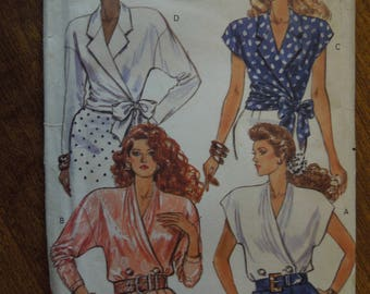 Butterick 4128, sizes varies, tops, blouses, UNCUT sewing pattern, craft supplies