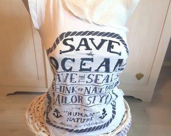 Motivational t-shirt, quotes, enivironment, top shirt, tank, save the ocean, party, fashion, gift, birthday, cheap clothing, cheap tank