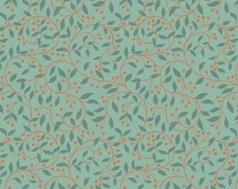 Chieveley A243.3 - Garland Swirl On Sage Lewis & Irene Patchwork Quilting Fabric