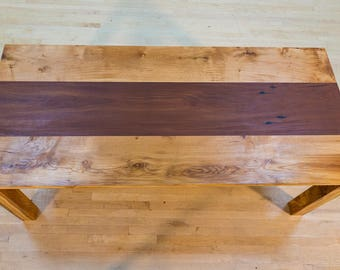 Reclaimed Oak Contrast Dining Table