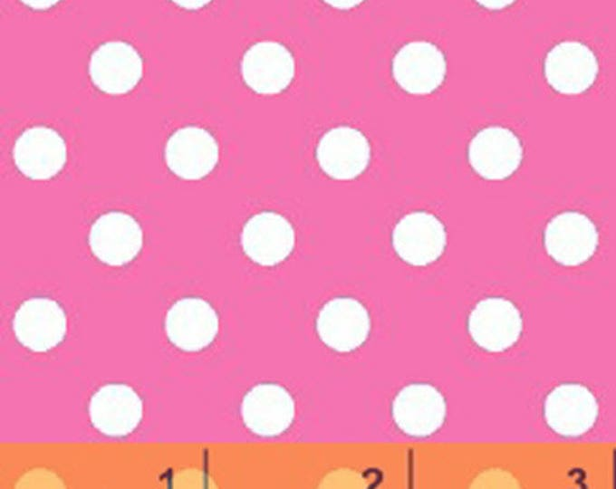 Windham Basic Brights - Aspirin Dot in Pink / White - Bright Basics Cotton Quilt Fabric Dots - Windham Fabrics - 29398-4 (W4147)