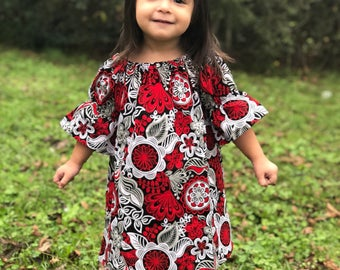Girls Christmas Dress, Girls Christmas Outfit, Girls Dresses, Baby Dress, Toddler Dress, Baby Girls Dress, Christmas Dress, Red Dress, Baby