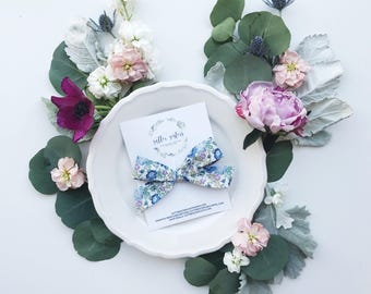 Blue floral X Liberty of london x oversized school girl