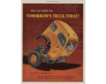 Vintage poster advertisement of a 1954 White truck ---  65