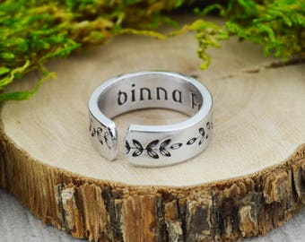 Dinna Fash Ring - Scottish Jewelry - Fern Floral Ring