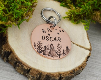 Hand Stamped Pet ID Tag • Personalized Pet/Dog Tag • Dog Collar Tag • Custom Engraved Dog Tag