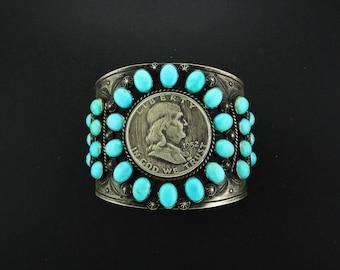 1909 Barber Coin Cuff Bracelet