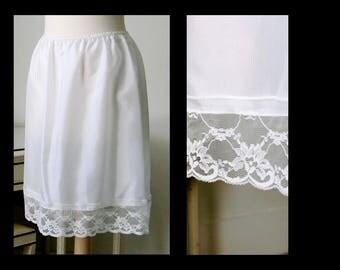 Satin Half-Slip Petticoat Skirt