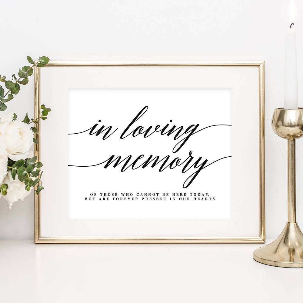 It's just a picture of Striking In Loving Memory Free Printable
